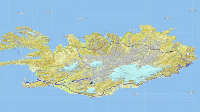 Route durch Island
