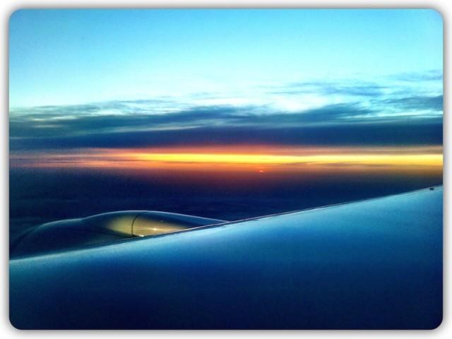 Sonnenuntergang kurz vor Frankfurt