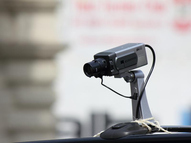 Überwachungskamera am NSA Mobil