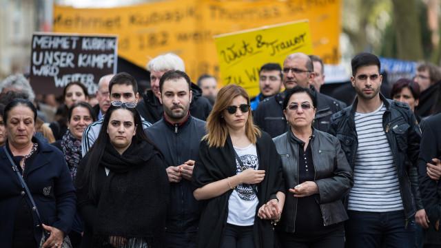 Marsch zum Mahnmal der Opfer des NSU