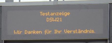 Testanzeige DSW21