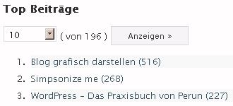 """Top Beitrag """"Blog grafisch darstellen"""""""