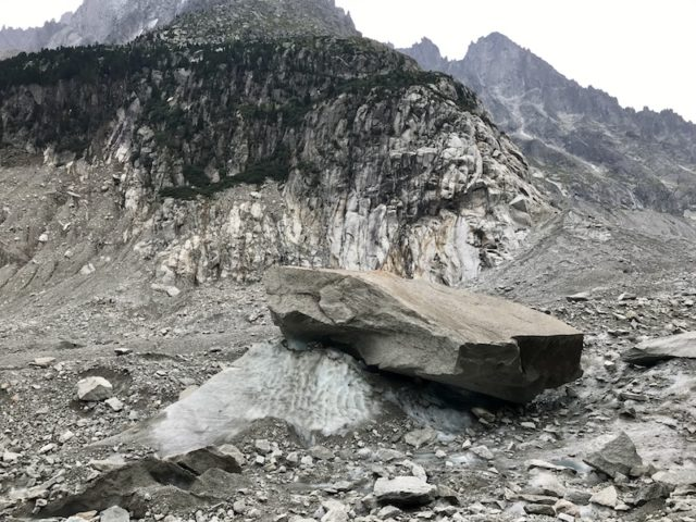 transportierter Stein