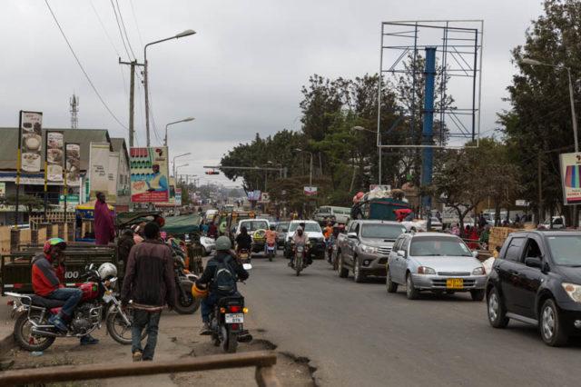 Straßenverkehr in Arusha
