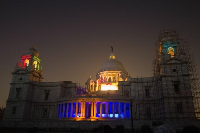 Sound- und Lichtshow am Victoria Memorial